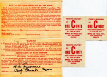 Gas Ration booklet